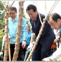동화가꾸기사업 매화나무 2차 식재행사(10.7)