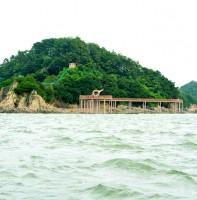 바다에서 보는 구봉도 낙조전망대 풍경(08.18)