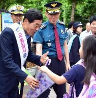 상록경찰서 어린이 교통캠페인(07.11)