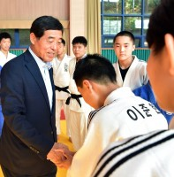 관산중학교 유도매트 기증식(08.28)