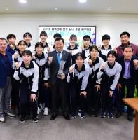 2018 태백산배 전국 남녀 중고 배구대회 원곡고 배구부 준우승 봉납식(04.24)