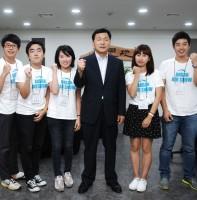 2012경기안산항공전관련 대학생취재단과 인터뷰(09.12)